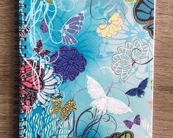 "Notebook with Original Art, ""Butterfly Blooms"""