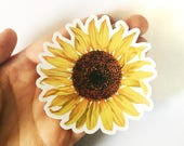 Sunflower Sticker | Vinyl Vintage Sticker | Bumper Sticker | Laptop Sticker | Outdoor Sticker | Nonfade Sticker | Waterbottle Sticker