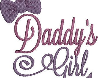 Daddy's Girl Machine Embroidery Design
