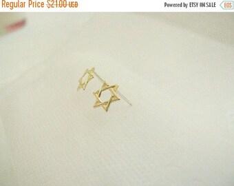 SALE - Star of david stud earrings - Gold star earrings - Star studs - Jewish star studs - Tiny star stud earrings -  Gold earrings