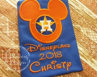 Custom Astros embroidered Mouse Vacation Shirt for the Family! 879 royal