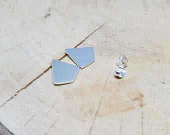 Kite Shape Earrings Sterling Silver Earrings Geometric Stud Earrings Minimalist Jewelry