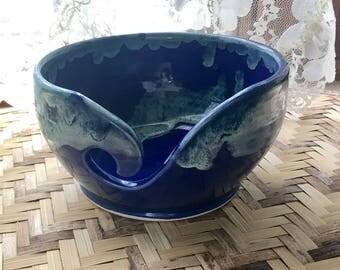 Cobalt Blue Hand Thrown Porcelain Yarn Bowl