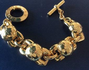 bracelet CELINE , gourmette tank