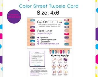 Color Street Twosie Nails Purple 4x6 --Custom Digital Download