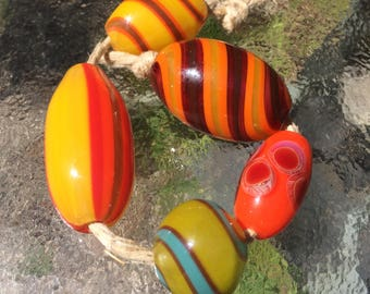 Handblown Glass Color Beads - Wholesale Variety 5 pack