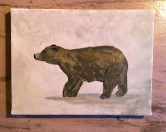 "Black Bear. 6""x8"""