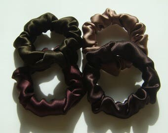 100% Silk Hair Scrunchies, 4 for 24.00