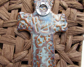 Pray Cross Ornament