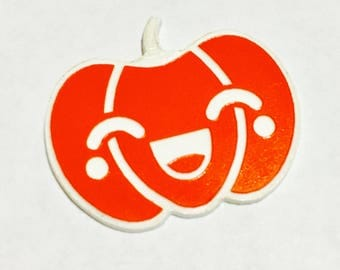 Laser Cut Supplies- 1 Piece. Kawaii Halloween Pumpkin Happy Charms - Laser Cut Acrylic-Laser Cut- Little Laser Lab