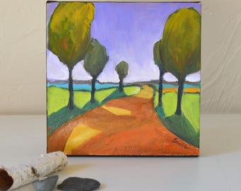 """Small abstract landscape painting 