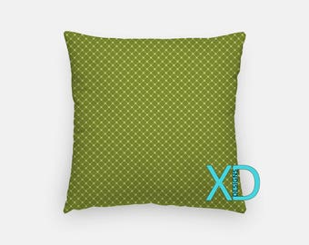 Olive Grid Pillow, Lined Pillow Cover, Spring Pillow Case, Green Pillow, Artistic Design, Home Decor, Decorative Pillow Case, Sham