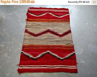 SUMMER CLEARANCE Antique Chevron Flatweave Kelim Rug (3513)