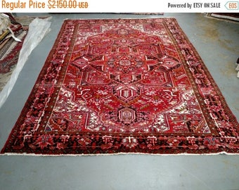 SUMMER CLEARANCE 1990s Hand-Knotted Vintage Heriz Gorovan Persian Rug (3256)