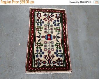 SUMMER CLEARANCE Persian Rug - 1990s Hand-Knotted Hamadan Rug (3690)
