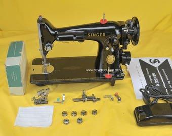 1955 Refurbished Singer 201-2 Industrial Strength Sewing Machine  W/ Warranty