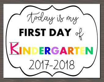 First Day of School signs for 2017, 1st Day of School Signs, Printable first day pictures, grades K - 12 printable signs, instant download