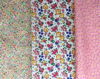 """8"""" x 12"""" pieces - Pack of 3 Liberty London Tana Lawn"""