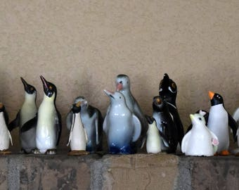 1 Dollar Shipping! March of the  vintage penguin figurines! Over 40!