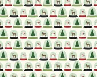Christmas Snow Globes Fabric Comfort Globes by Dani Mogstad for Riley Blake Comfort and Joy Collection Christmas Tree Quilting Fabric
