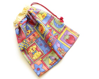 SALE || Drawstring Bag || Bright Pics || 36cm x 34cm