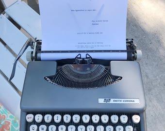 1960s Smith Corona Skyriter Typewriter