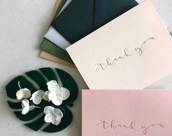 Foil Pressed Thank You Cards - Set