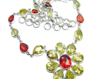 Cubic Zirconia, Cubic Zirconia Sterling Silver Necklace - weight 46.60g - dim 1 5 8 inch - code 6-lip-16-55