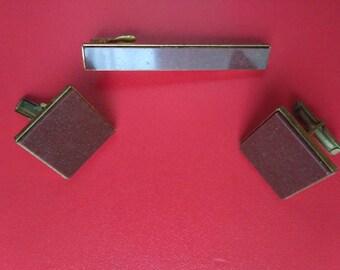 Cufflink + tie clip 56 vintage from ussr