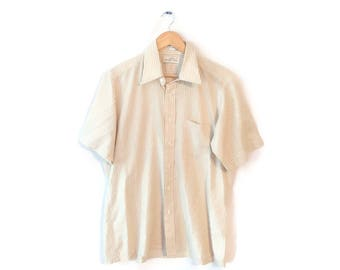 Hipster vintage A & S Men's Store button down shirt size Large short sleeves