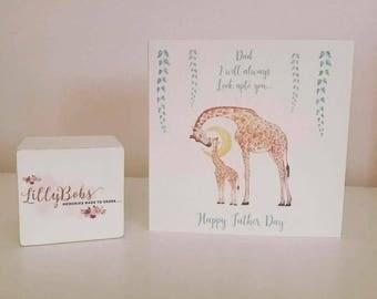 Giraffe Fathers Day Card