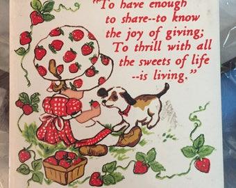 Vintage Strawberry Shortcake trivot Jasco 1981