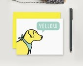Yellow Lab Greeting Card; Dog Lover Just For Fun Card; Modern Greeting Card