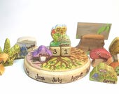 Complete Seasonal Calendar for Nature Table Home Display,  Wooden Waldorf Education Daily, Monthly, Seasonal Calendar, Nature Table Calendar