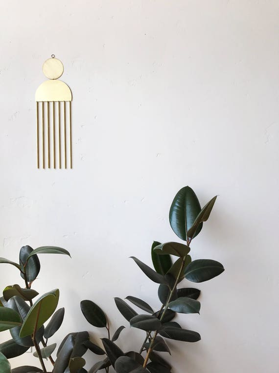 "Brass Wall Hanging - ""marisol"" - made-to-order - 3 week turnaround time"