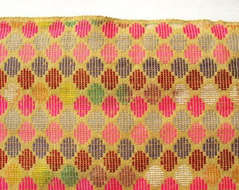 Upholstery Fabric Woven Fabric Yarn Dyed Yellow and White  Home Decorating Fabric Sold by Yard