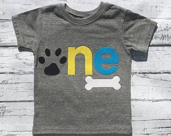 Paw Print. First Birthday. Paw Party.One. New Design. READY TO SHIP