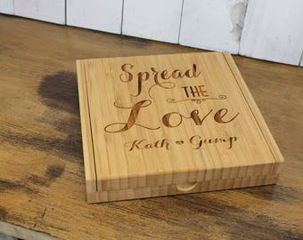 Personalized Cheese Board Set/Engraved/Spread the Love/Wedding Gift/Shower Gift/Housewarming/Mother's Day, Cheese Knife/Wine Lover