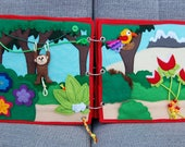 PATTERN & TUTORIAL 2 Quiet book pages Piratebook - Jungle