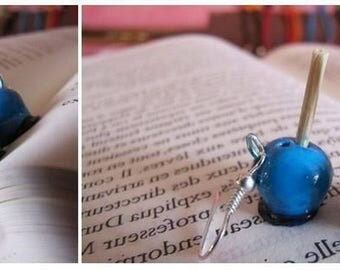 Love blue or Green Apple earrings.