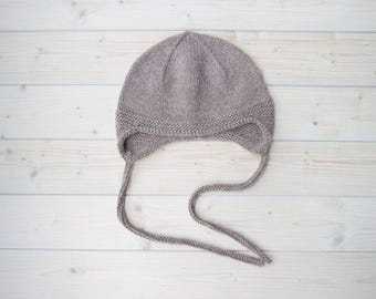 Alpaca Wool Hat | Baby Hats | Wool Baby Hat | Newborn Hat | Knit Wool Hat | Baby Beanie | Baby Cap | Kids Earflap Hat | Winter Baby Cap (70)
