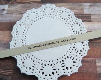White Lace Paper Dolies-Centrini di carta bianchi-set 50 pezzi
