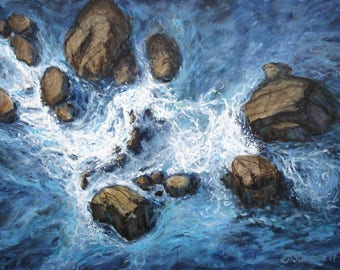 "Original painting ""Above the rocks"" by Anna Starkova 30""x40"""