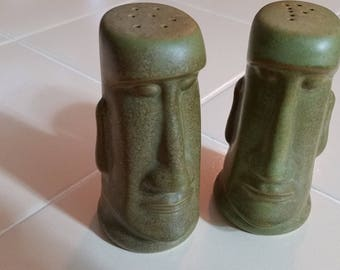 FREE U.S. SHIPPING--Easter Island Salt and Pepper Shakers