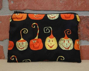 One Snack Sack, Reusable Lunch Bags, Waste-Free Lunch, Machine Washable, Pumpkin, Halloween, Back to School, School Lunch, item #SS86
