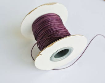 5 meters of waxed cotton Burgundy 1 mm