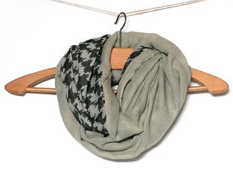 Woman Snood mothers - chiffon and cotton mist
