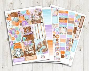 Woodland Vertical Weekly Kit - ECLP Stickers