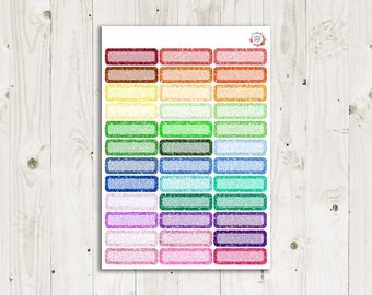 1/4 Glitter Boxes - ECLP Stickers