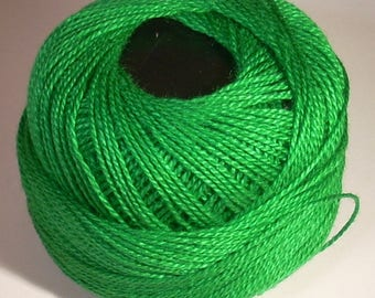 Beaded green 80 meters cotton reel
